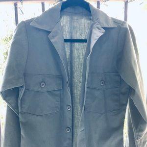 Vintage military shirt jacket